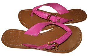 Tory Burch Nora Flat Thong Fuschia Sandals