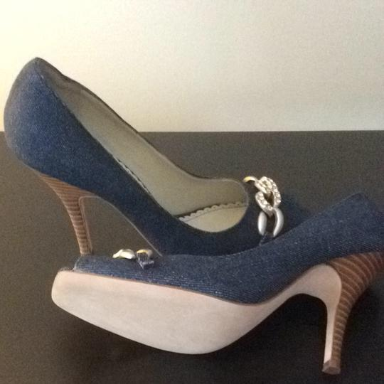 Martinez Valero Blue Denim Pumps