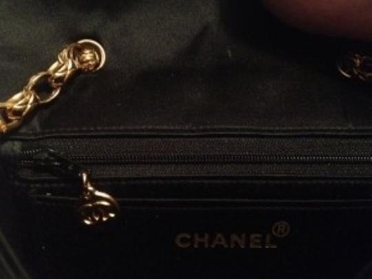 Chanel Satin Gold Chain Shoulder Bag