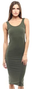 Olive Green Maxi Dress by Other Tank Summer Bodycon Midi Sleeveless