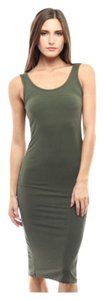 Olive Green Maxi Dress by Tank Summer Bodycon
