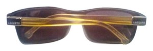 Lacoste Lacoste L504SBlack/Gold Rectangular Sunglasses Case, Cloth, Made in Italy