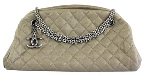 Chanel Satchel in Metallic Taupe