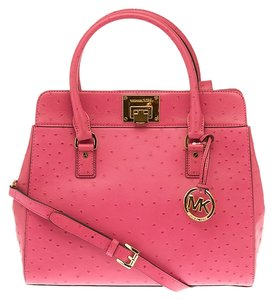 Michael Kors Ostrich Tote in Pink