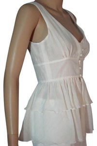 Trina Turk Sleeveless Xs Blouse Top White