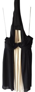 London Times Silk Deep V Halter Dress