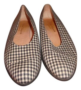 Robert Clergerie Black and White Flats
