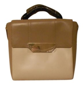 Halston Convertible Colorblock Chalk/Taupe Messenger Bag