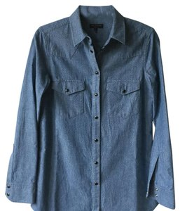 Rag & Bone Button Down Shirt Denim