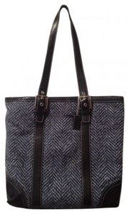 Coach Tote in Blue and Black