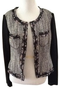 BCBGeneration Flowers Chic Tweed Black Jacket