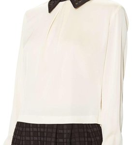 Catherine Malandrino Top Black, ivory