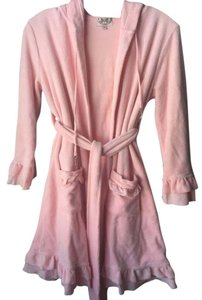 9e4e577f4b Juicy Couture Pink White Ruffles Terry Cotton Hoodie Bathrobe ...