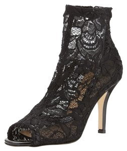 Vince Camuto Fashion Forward Leather Lace Black Boots