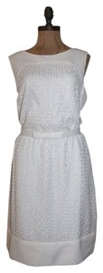 BCBG Paris Lace Belted Embroidered Dress