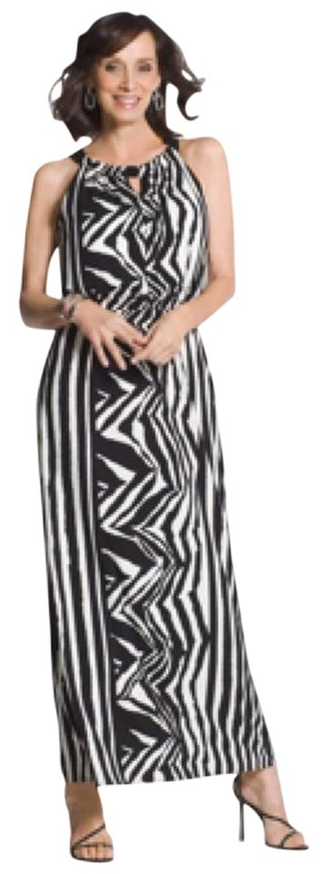29164e7b972 Chico s Zebra Print Knit Long Casual Maxi Dress Size Petite 12 (L ...
