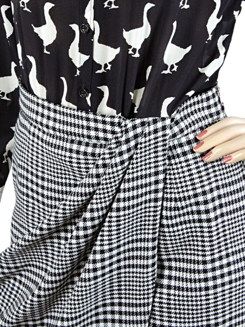 Moschino Print Duck Silk Wool Suit Checkered Plaid Striped Dress Image 1
