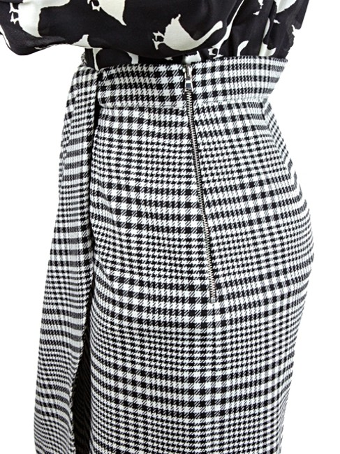 Moschino Print Duck Silk Wool Suit Checkered Plaid Striped Dress Image 3