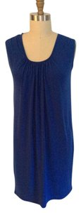 Michael Kors Cobalt Cowl Neck Formal Sleeveless Dress