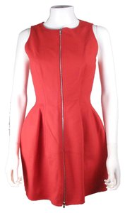 ALAA short dress Red Iconic Zip Up Cotton on Tradesy
