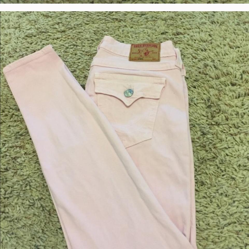 a6802e2ca19a7 True Religion Pink Jeggings Skinny Jeans Size 28 (4, S) - Tradesy