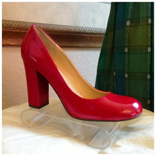 Chinese Laundry Patent 1940s Chunk Heel Christmas Valentines Day Size 9 red Pumps