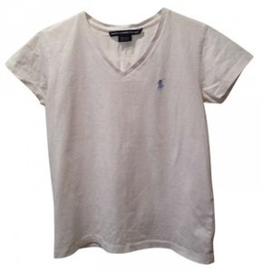 Ralph Lauren T Shirt White with Light Blue