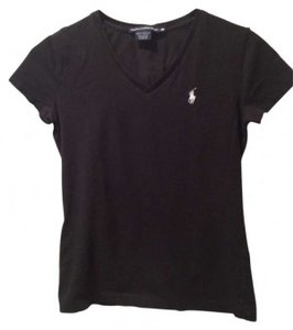 Ralph Lauren T Shirt Black with white