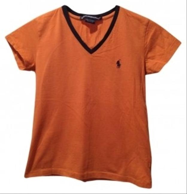 Ralph Lauren T Shirt Orange and Navy