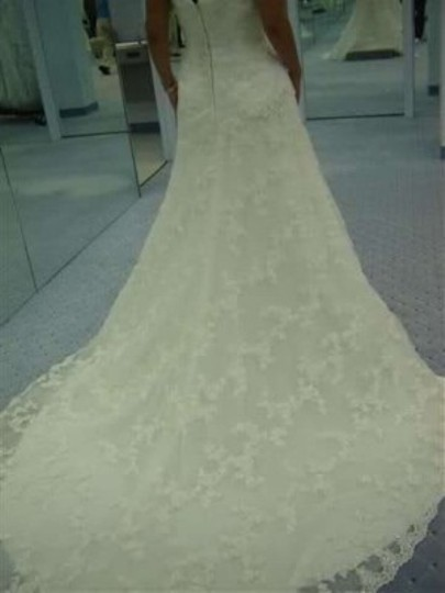 Alfred Angelo White Net/Satin 1807 Formal Wedding Dress Size 20 (Plus 1x)