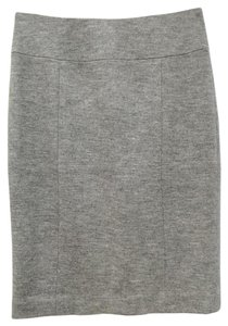 Ann Taylor Retail 100% Wool Slim Silhouette Classic Modern Skirt Heather Grey
