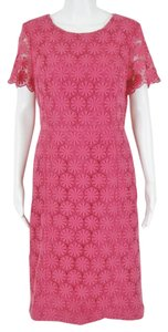 Talbots Peek A Boo Sleeve Floral Dress