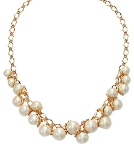 Kate Spade Gold Petaled Faux Pearls Collar Necklace