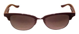 Ray-Ban NEW RAY BAN RB 4132 737/32 VIOLET GRADIENT TORTOISE CLUBMASTER SUNGLASSES ITALY