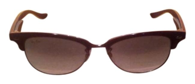 Ray-Ban Violet Rb 4132 737/32 Gradient Tortoise Clubmaster Sunglasses Ray-Ban Violet Rb 4132 737/32 Gradient Tortoise Clubmaster Sunglasses Image 1
