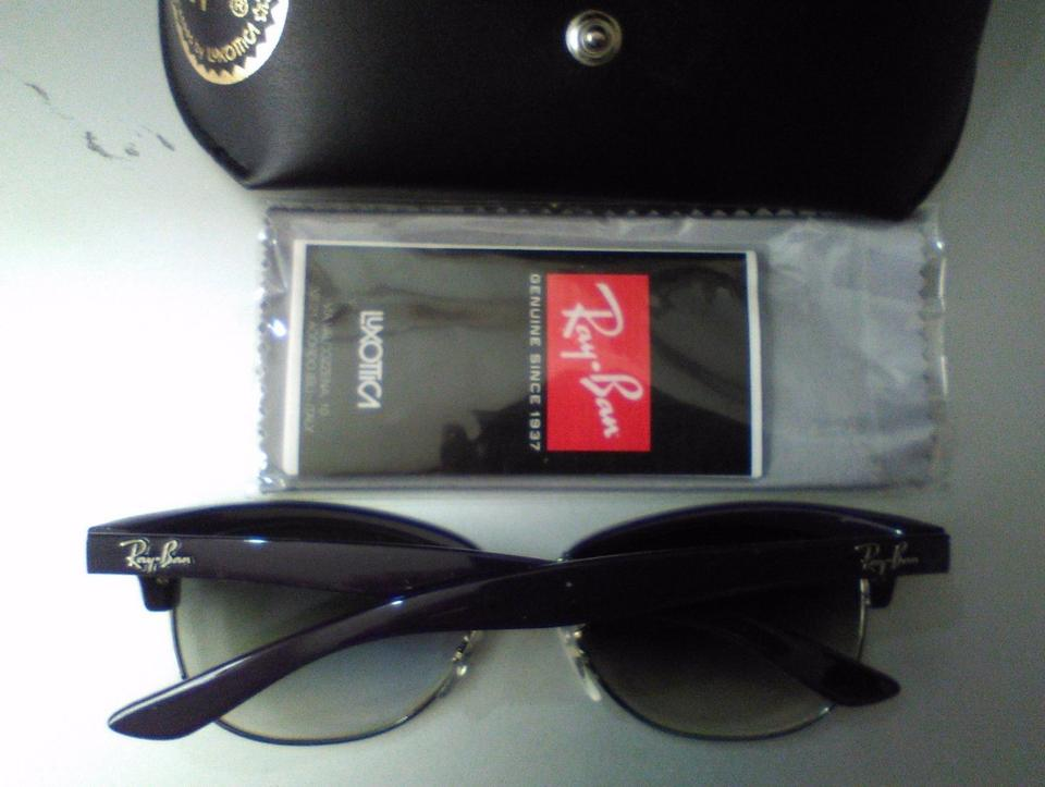 892d6fe71c Ray-Ban Violet Rb 4132 737 32 Gradient Tortoise Clubmaster Sunglasses -  Tradesy