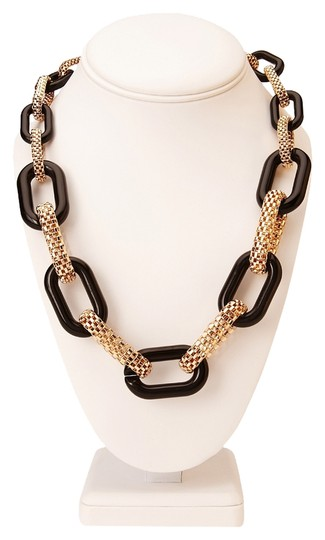 Forever 21 Forever 21 Black and Gold Mesh Necklace