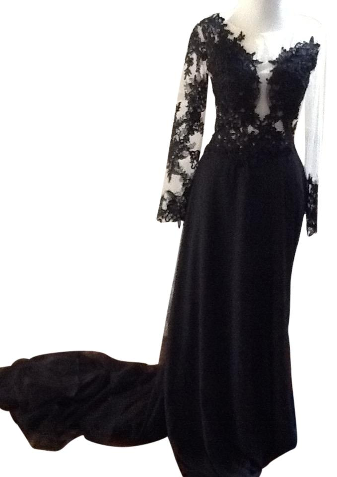 Black and Beige Prom Gown Please Check Measurements Long Casual Maxi ...