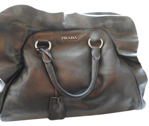 Prada Satchel in Grey Metallic