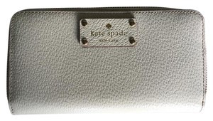 Kate Spade Wellesley Neda Zip Around Pebble Leather Wallet