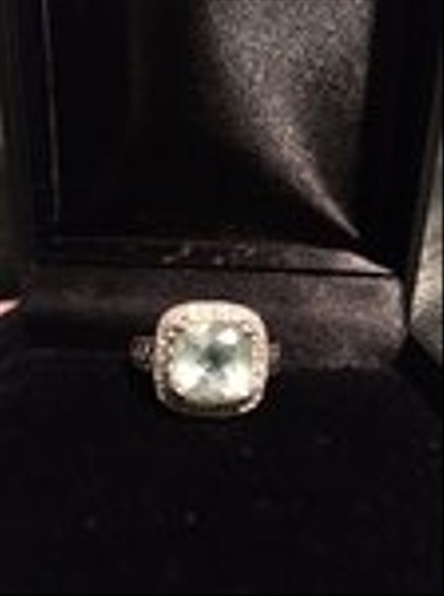 Other 14 kt. White Gold Aquamarine 4.05 ct. and Diamonds Ring