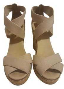Tory Burch Cream Wedges