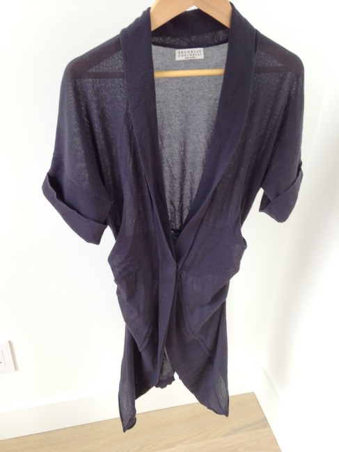 Brunello Cucinelli Blue Grey Cardigan