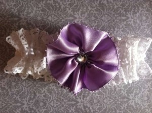 White Purple Garter