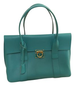 Salvatore Ferragamo Satchel in Lake Green