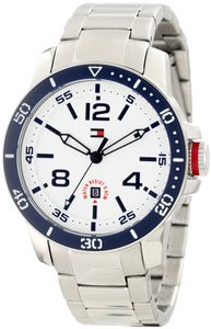 Tommy Hilfiger Tommy Hilfiger 1790846 Silver Stainless Steel White Dial Mens Watch