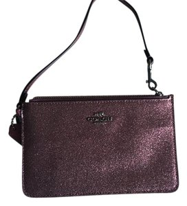 Coach Wristlet in Glitter Cherry