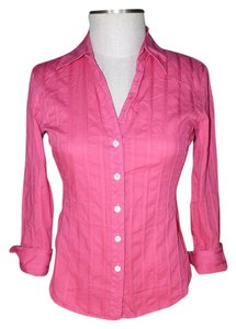 Talbots French Cuff Button Down Shirt Pink