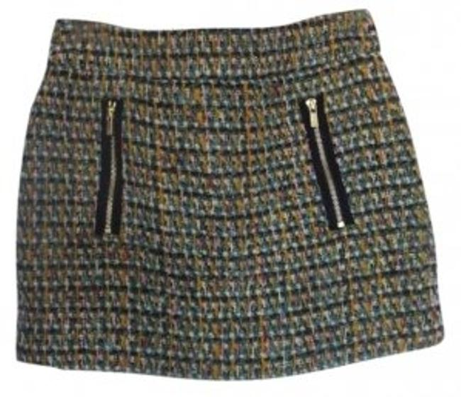 J.Crew Dolce Mini Tweed Mini Skirt multi