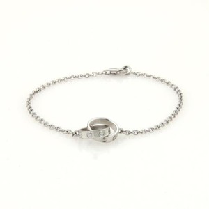 Cartier Cartier Love 18k White Gold Double Ring Charms Chain Bracelet